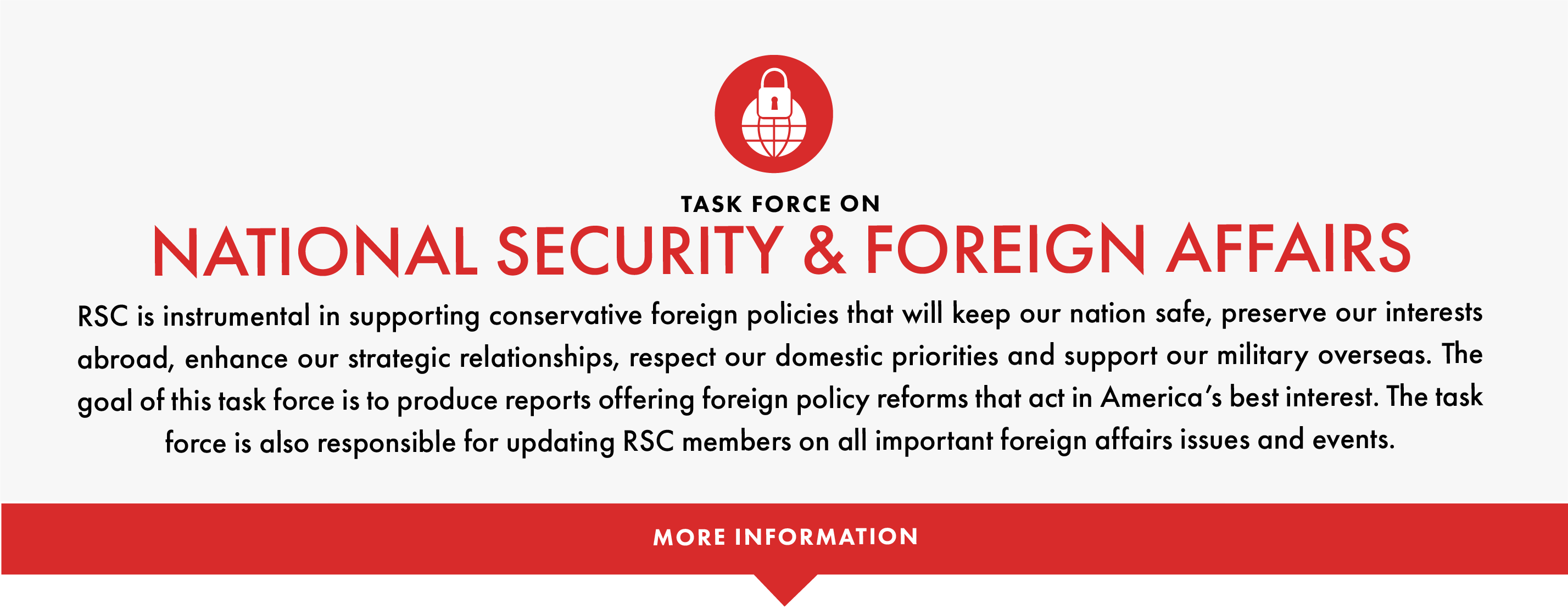 The goal of this task force is to produce reports offering foreing policy reforms that act in America's best interest